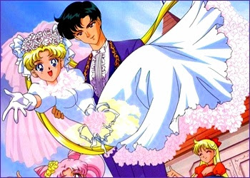 sailor moon and tuxedo mask wedding  Sailor Moon