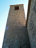 El campanar torre de Sant Feliuet vist des de la banda nord