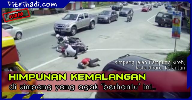 (Video) Simpang 'Berhantu' di Jalan Kampung Sireh, Kelantan