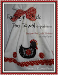 Farmgirl Chick Tea Towel
