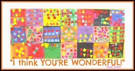 "AUTHENTIC Kindergarten Art in Response to Debbie Clement's picture book, ""You're Wonderful"""