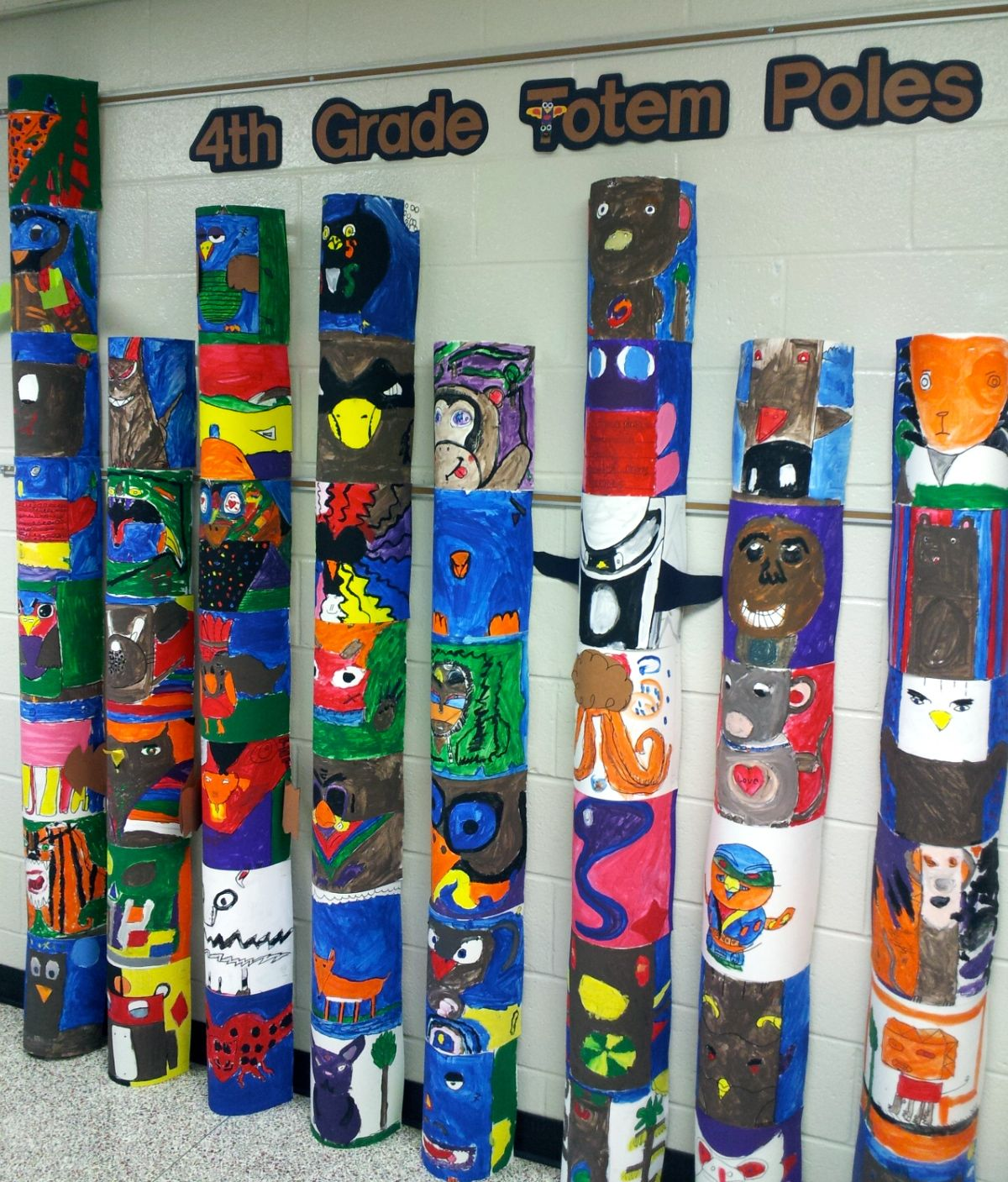 Totem Poles 4th Art With Mrs Nguyen