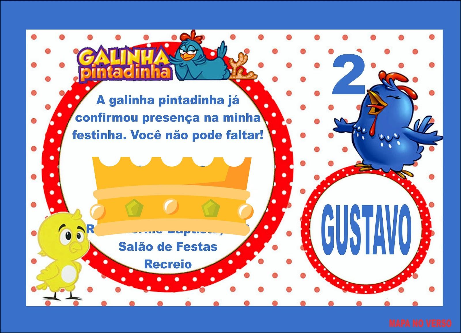 CLIQUE AQUI Para Ver O Modelo De Convite Infantil Galinha Pintadinha