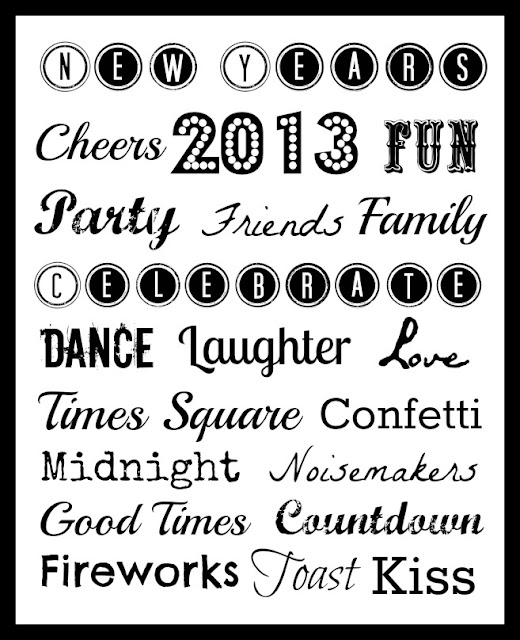New Years Printable