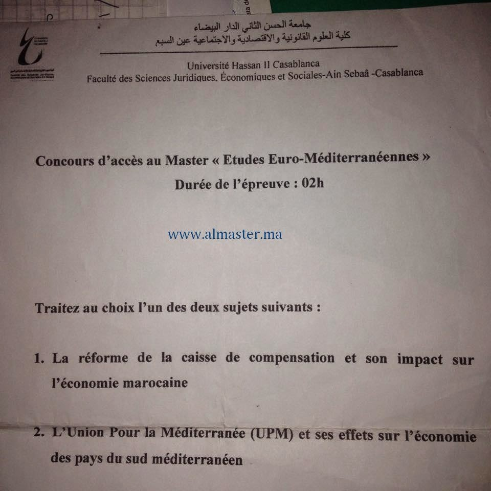 concours d u0026 39 acc u00e8s au master   etudes euro