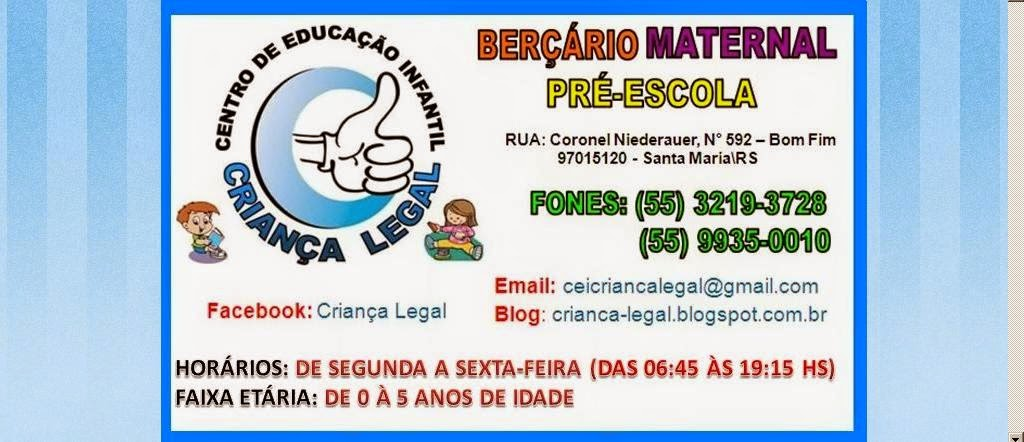CENTRO DE EDUCAÇÃO INFANTIL CRIANÇA LEGAL
