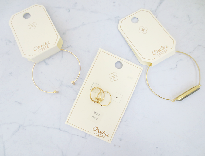orelia jewellery bar bangle ring pack