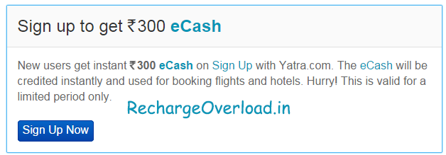 ecash free from yatra sign up