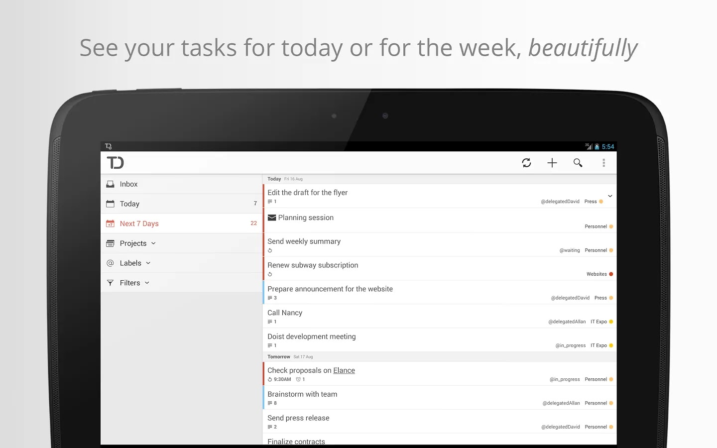 Todoist: To Do List, Task List v2.0