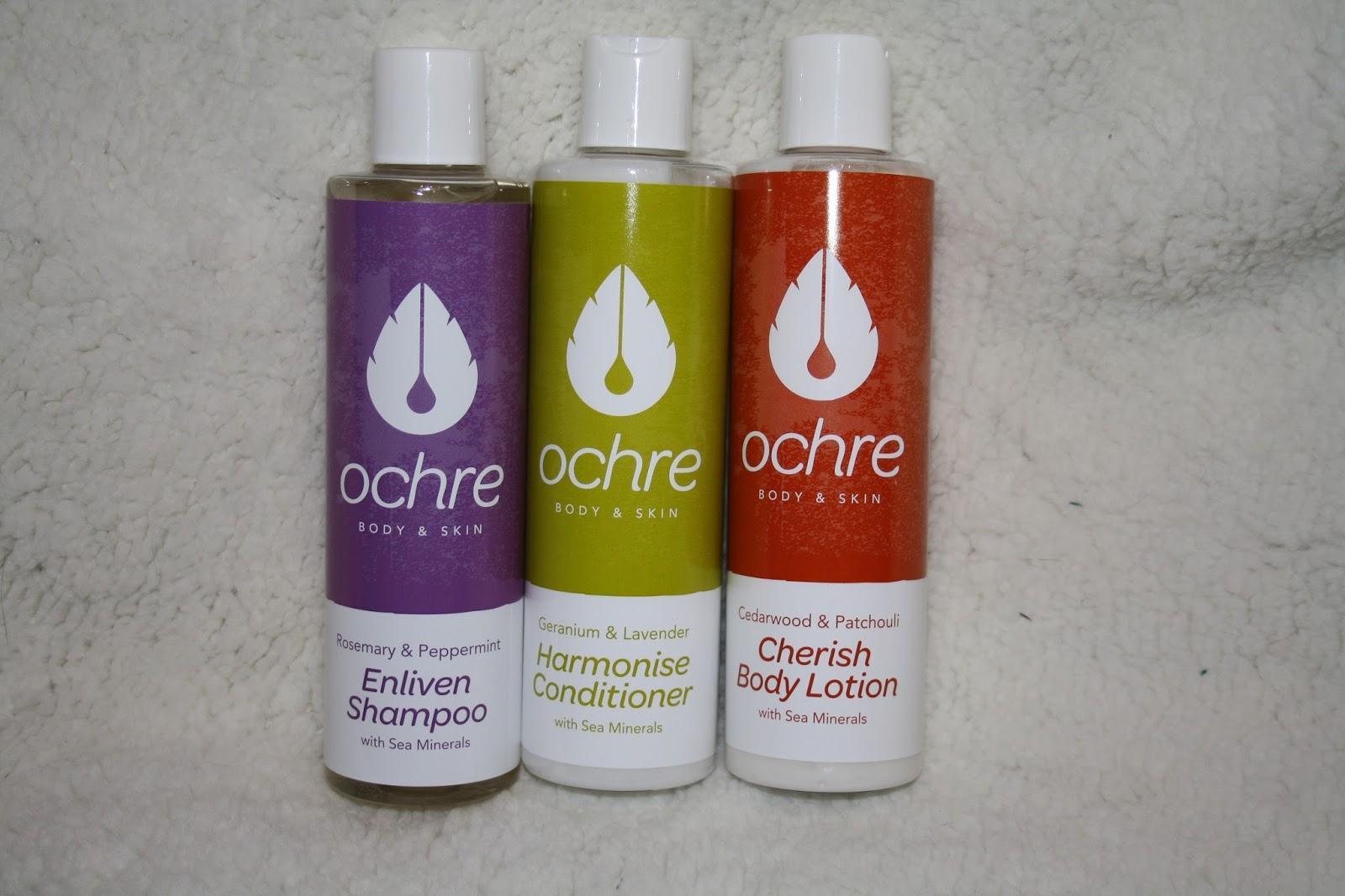 Ochre Body and Skincare Range