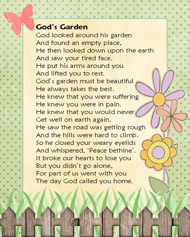 In Memory of Loved Ones http://gaelstreasures.blogspot.com/2012/07/gods-garden-in-memory-of-lost-loved-ones.html