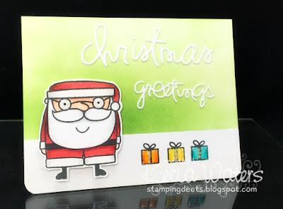 Paper Smooches, Kecia Waters, Copic markers, Santa, Christmas