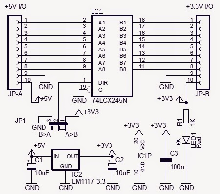 Electronic Project: Bidirectional Logic Level Converter Circuit on line level output, line output converter, pc composite diagram, line lock wiring diagram, microphone connection diagram, install line out converter diagram, bose 321 connection diagram, static phase converter diagram, line to rca converter,