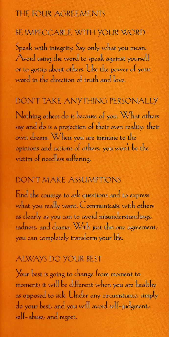 Eclectic Pat THE FOUR AGREEMENTS