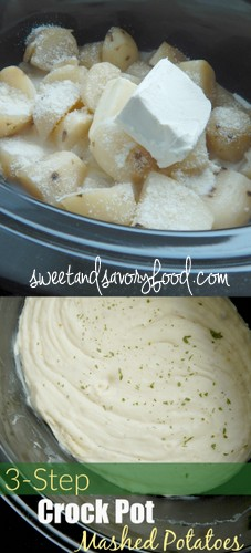 3-step crock pot mashed potatoes (sweetandsavoryfood.com)