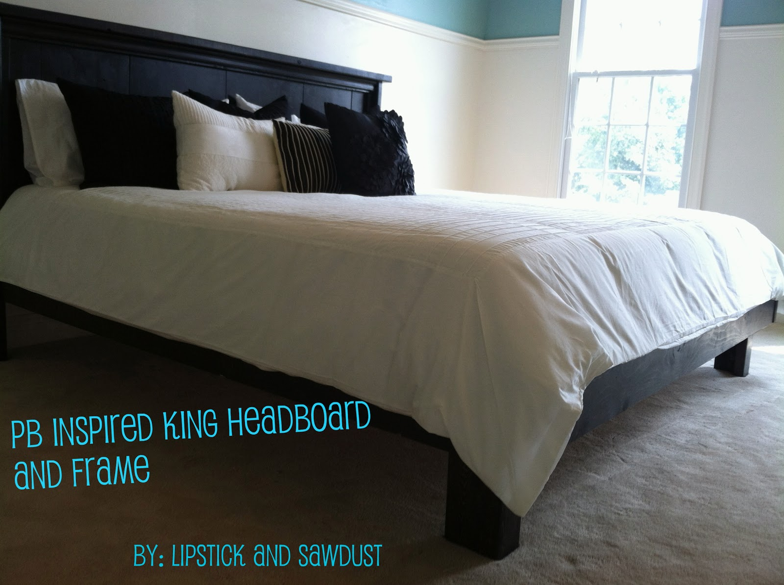 king bed is complete - King Bed Frame With Headboard