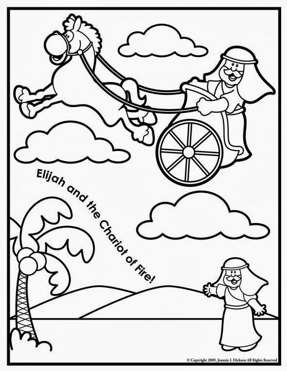 creative sunday school crafts elijah and the chariot of fire coloring page. Black Bedroom Furniture Sets. Home Design Ideas