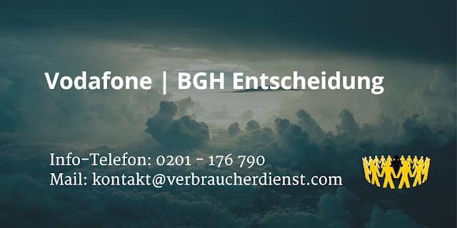 Vodafone  BGH Entscheidung