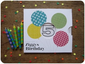 Simple homemade birthday invitation