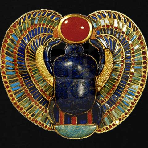 Ancient Egyptian Scarab Beetle Amulet