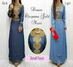 Gamis Denim Gold SOLD OUT