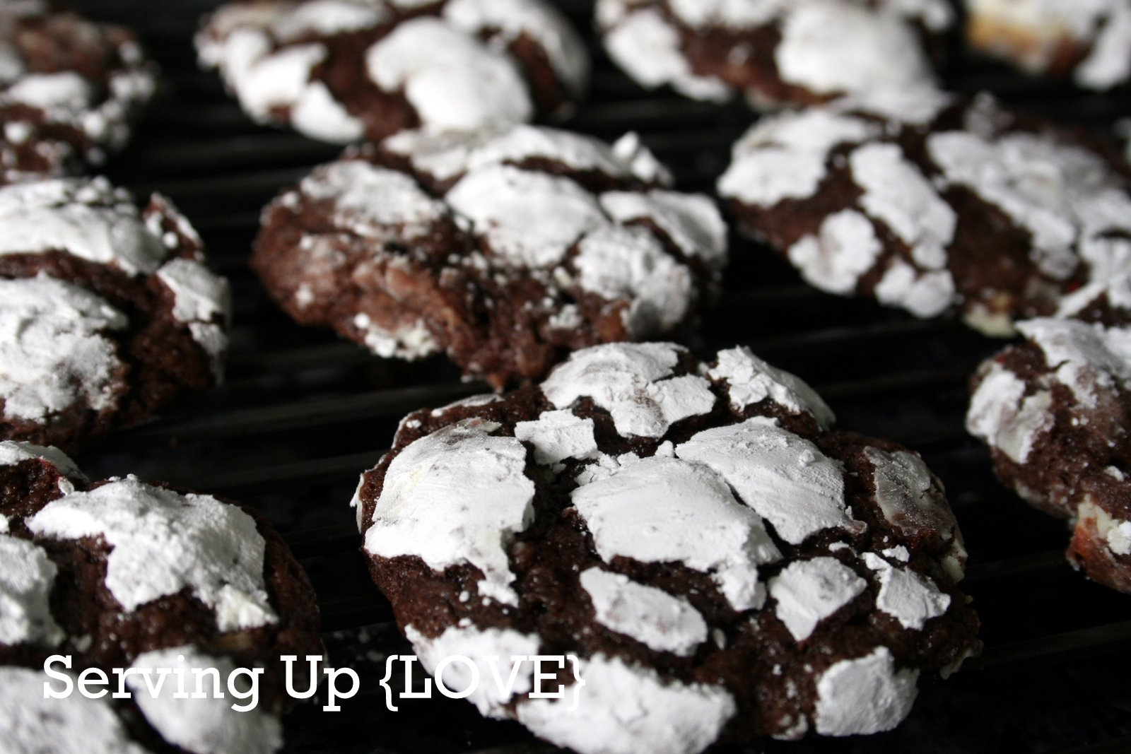 Katherine's Kitchen: Serving Up {Cookies}: Loaded Chocolate Crinkles