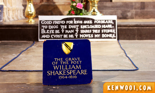 william shakespeare grave