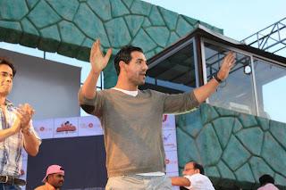 John Abraham at Jaipur for promotion of 'Shootout At Wadala'