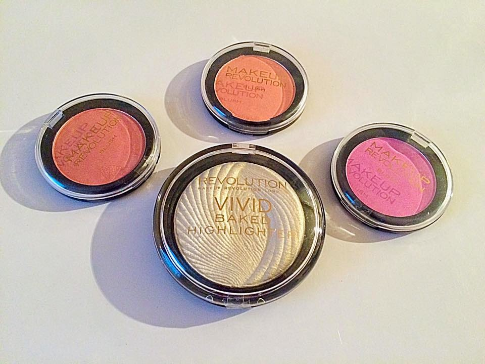 Makeup Revolution Blushers and Highlighter Review