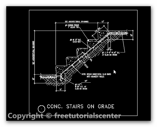 Concrete Stairs On Grade Detail