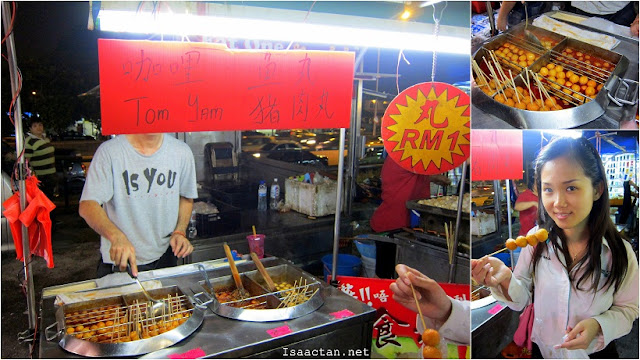Taman Connaught Pasar Malam Curry fish balls