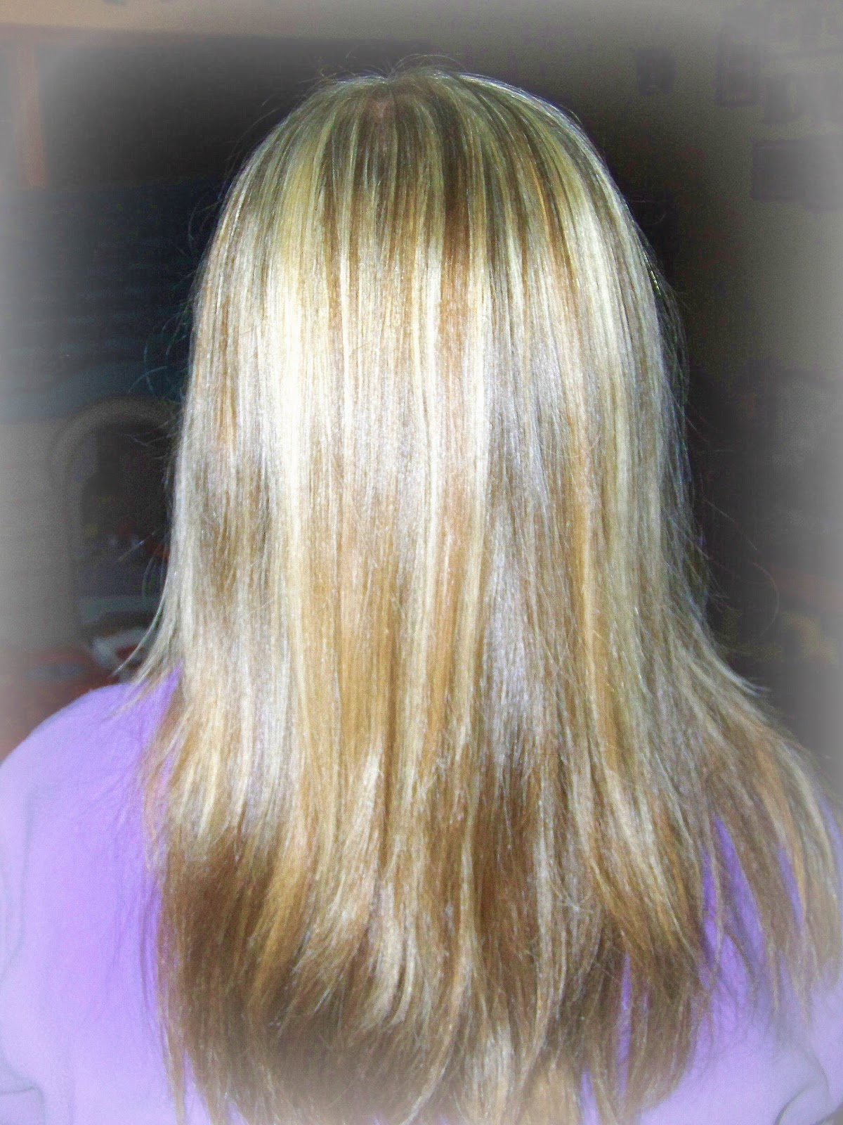 Poppy juice do it yourself hair color weave or highlights back view of finished highlights solutioingenieria Gallery