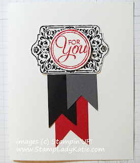 Banner Card made with Stampin'UP!'s Chalk Talk Stamp Set