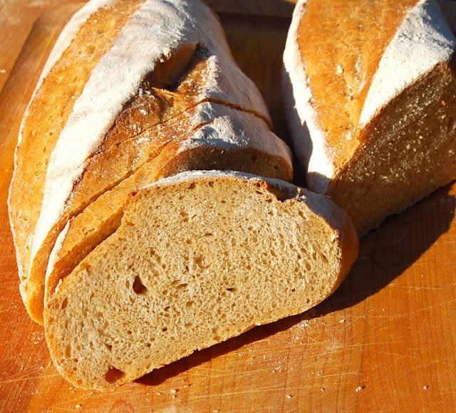Whole Wheat Sourdough Baguettes