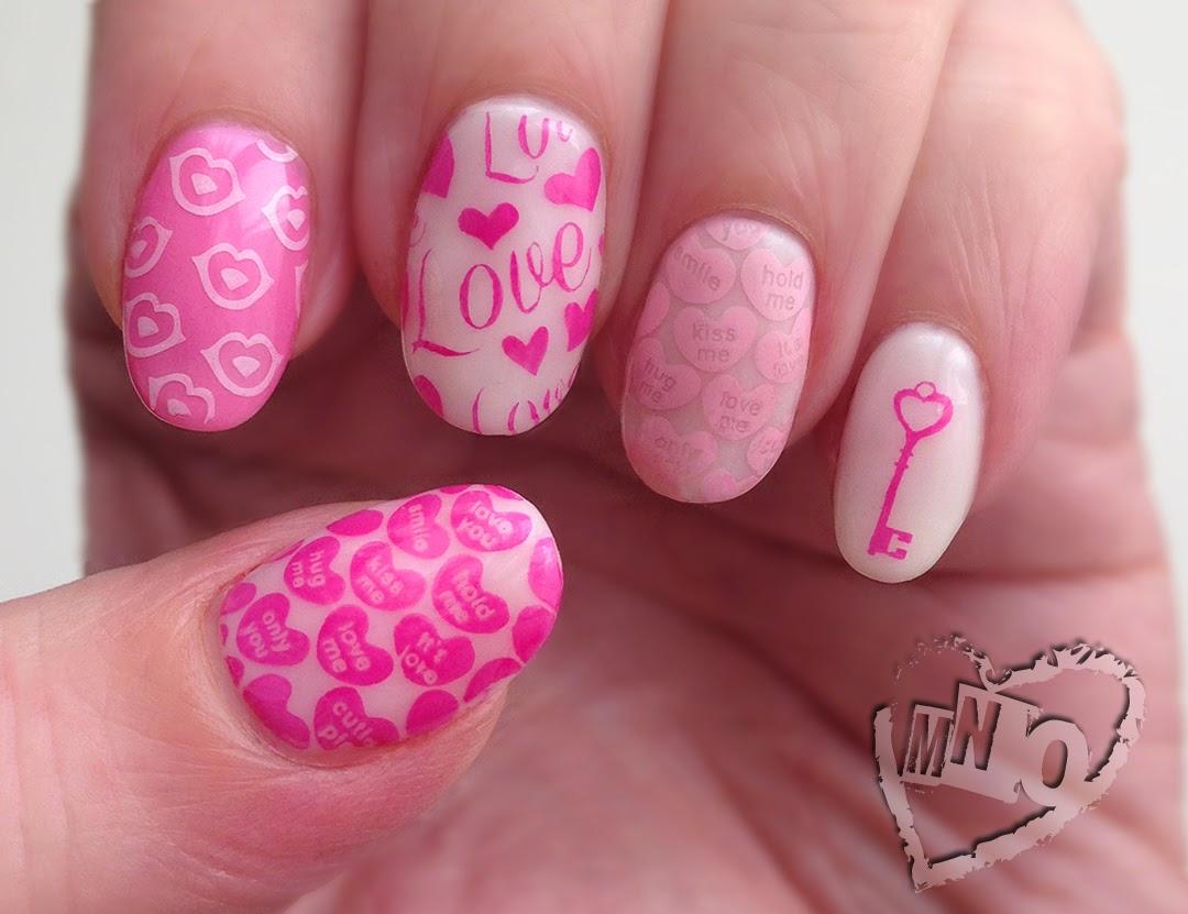 Valentine Heart Nail Design Art Stamp Little Princess 1422 Elite99