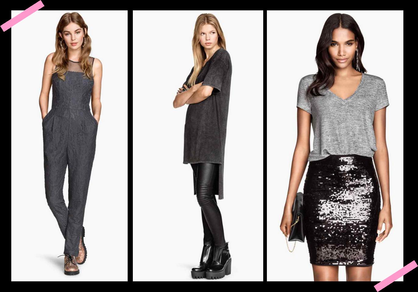 H&M novedades en gris