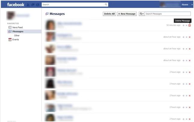 Cara Menghapus pesan percakapan di Facebook