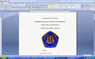 sosiologi laporan penelitian