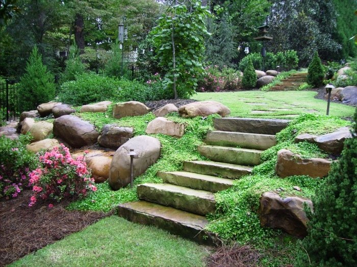 Landscaping Ideas Using Stone : Landscaping stone designs that may make the house look it