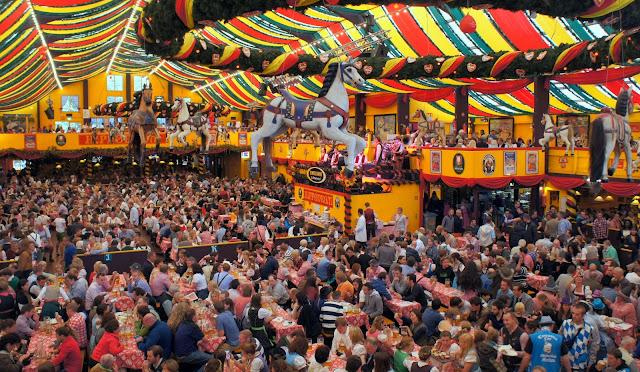 Inside Hippodrom, Oktoberfest, Munich 2013