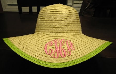 Maryland Pink and Green: Monogrammed Derby Hats