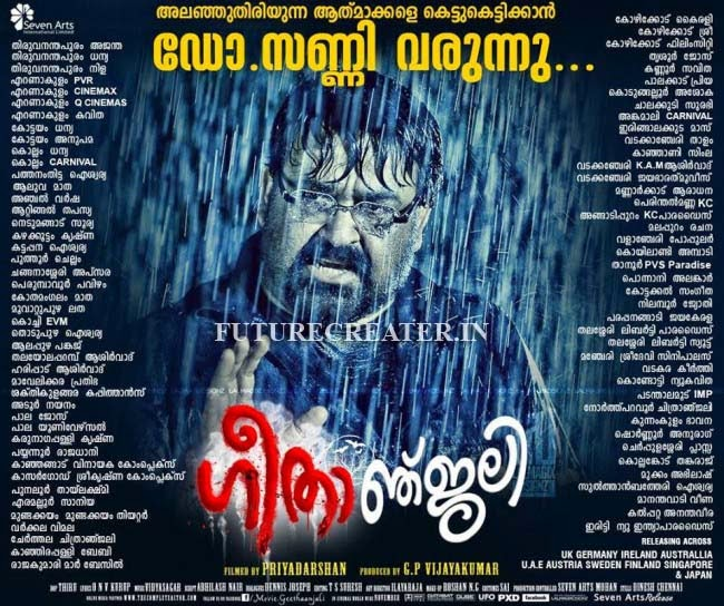 Mohanlal's Geethanjali releasing theater list in kerala