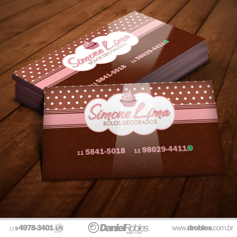 Favoritos Cartão de visita Simone Lima Bolos Decorados - Daniel Robles  YP11