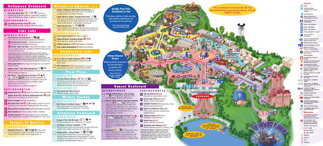 Mapa de Disney Hollywood Studios