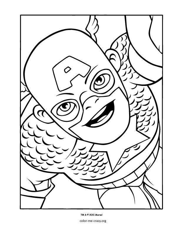 super heroes coloring pages - photo#21