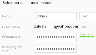 mengisi form kotak saat pendaftaran email yahoo
