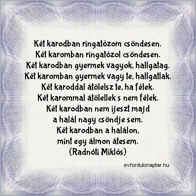 Radnóti Miklós - Két karodban ringatózom