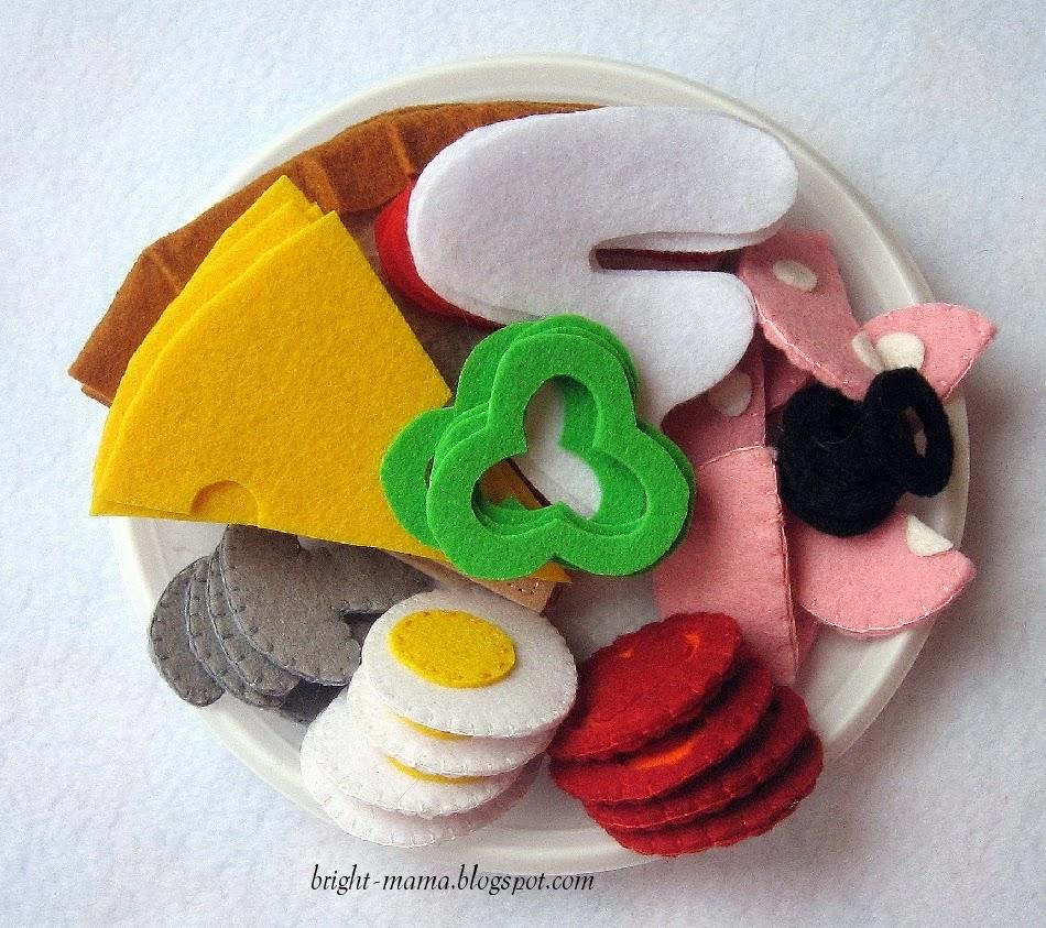 Пицца игрушка из фетра