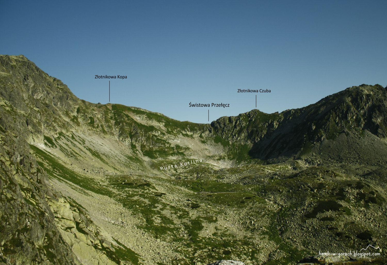 Widok na Świstową Przełęcz