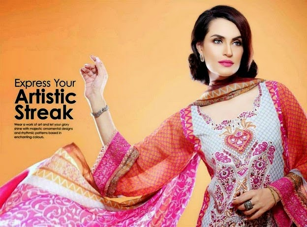 Shariq Textiles Embroidered Eid Dresses 2014